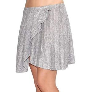 Brandy Melville gray wool mini skirt flare split